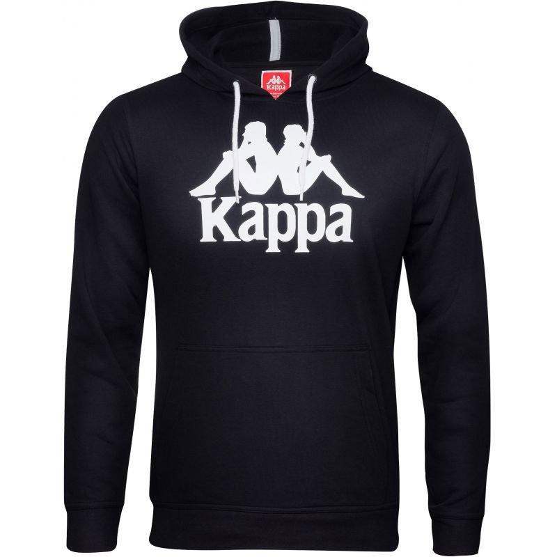 Černá pánská mikina s kapucí Kappa - velikost XL