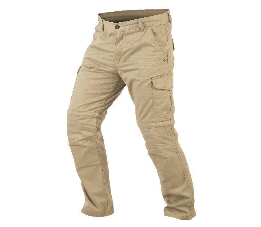 Béžové pánské motorkářské kalhoty Trilobite