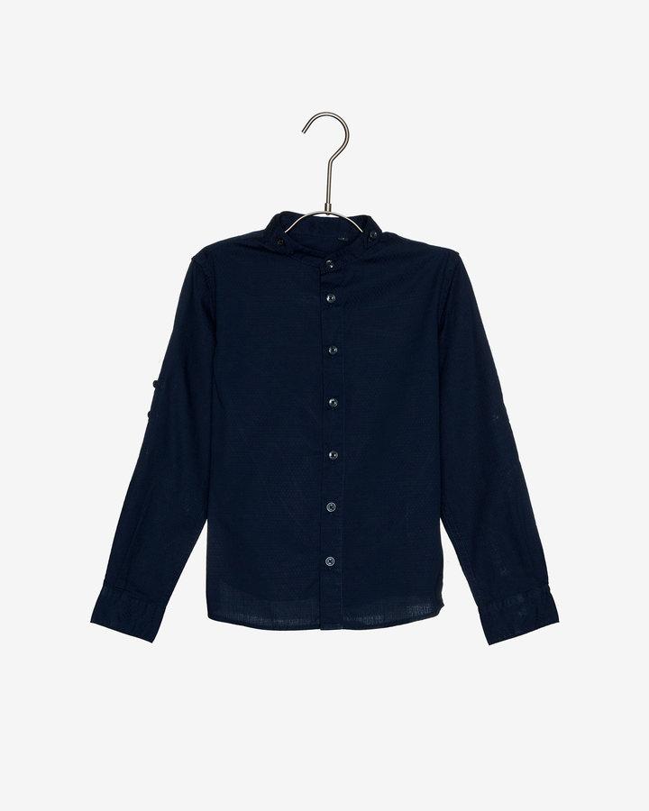 Modrá chlapecká košile s dlouhým rukávem Antony Morato