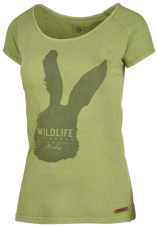 Zelené dámské tričko s krátkým rukávem Husky - velikost S