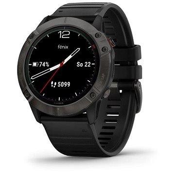 Černé chytré hodinky Fenix 6X Solar, Garmin