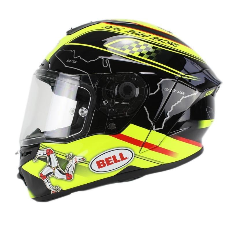 Černo-žlutá helma na motorku Bell