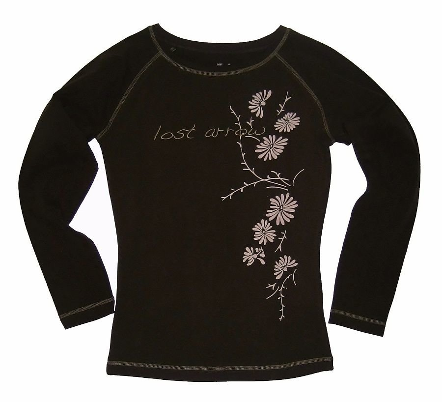 Černé dámské turistické tričko s dlouhým rukávem Chillaz - velikost L