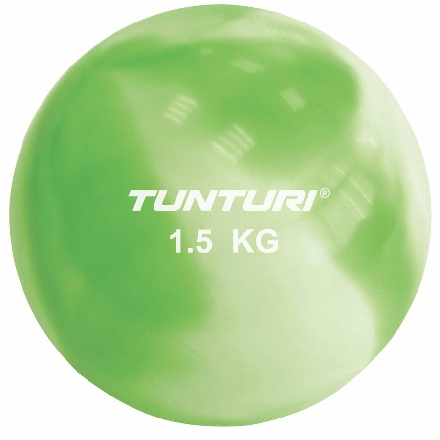 Zelený míč na jógu Tunturi - 1,5 kg