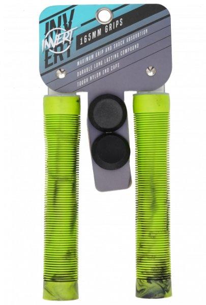 Zelené gripy na koloběžku Invert - délka 16,5 cm