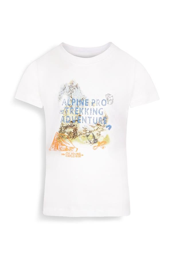 Bílé turistické tričko s krátkým rukávem Alpine Pro