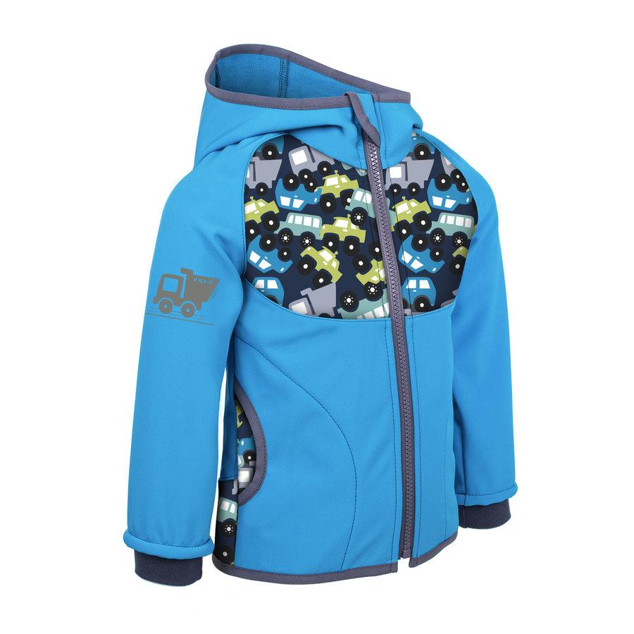 Modrá softshellová dětská bunda Unuo - velikost 92