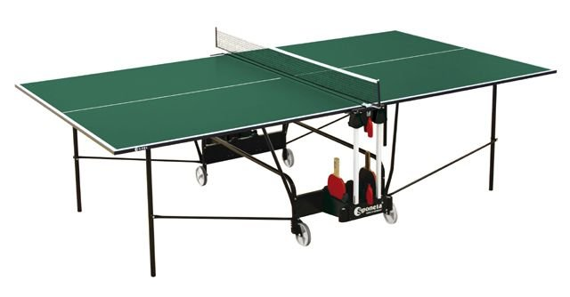 Zelený vnitřní stůl na stolní tenis S1-72i, Sponeta