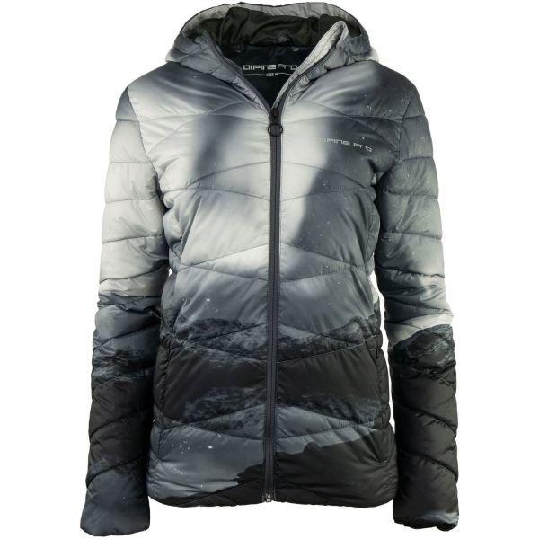 Černá zimní dámská bunda s kapucí Alpine Pro