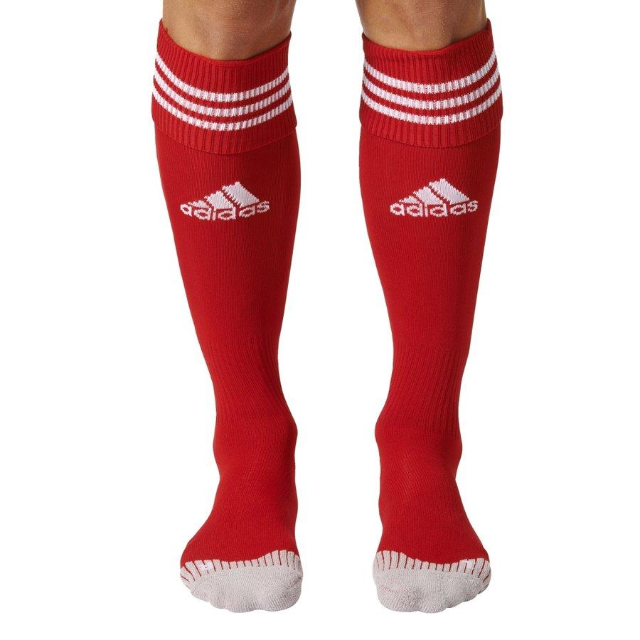 Červené fotbalové štulpny Adisock 12, Adidas - velikost 46-48 EU