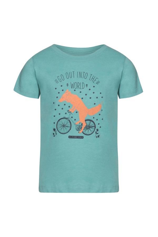 Modré dětské tričko s krátkým rukávem Alpine Pro - velikost 92-98