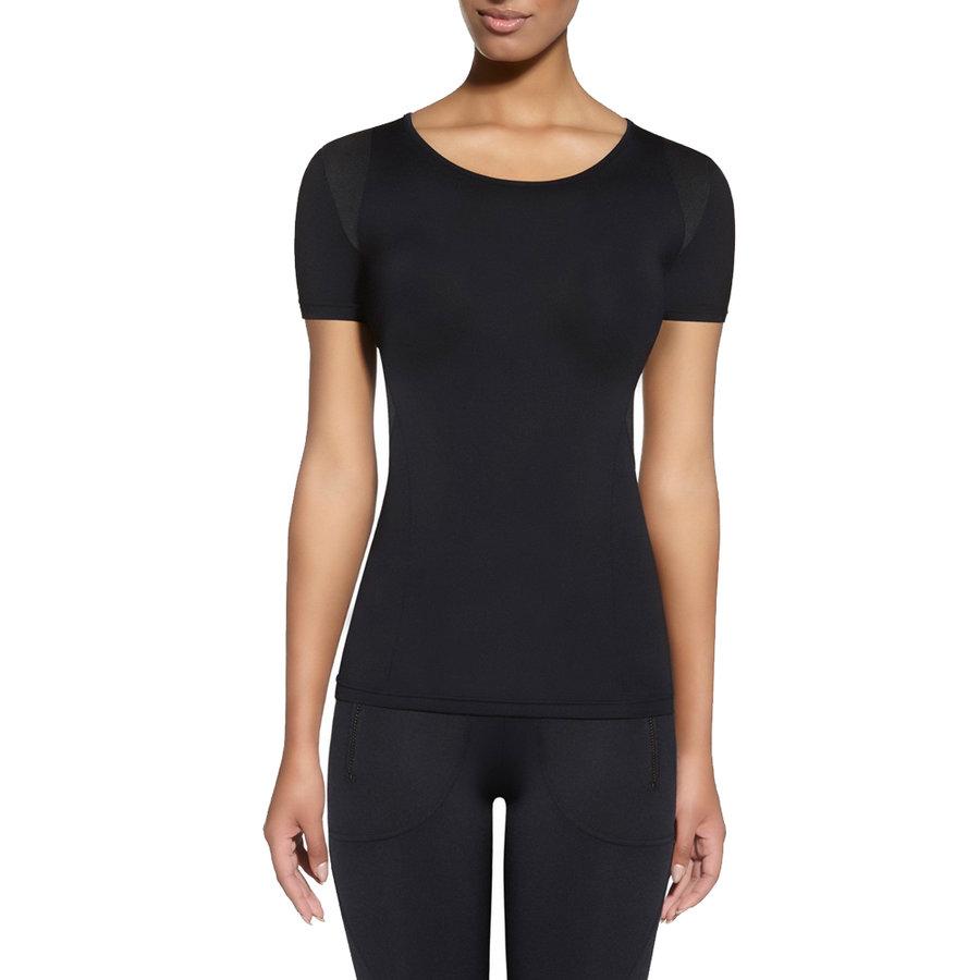 Černé dámské tričko s krátkým rukávem Bas Black