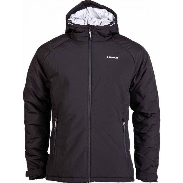 Černá zimní pánská bunda s kapucí Head