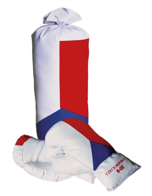 Různobarevná dětská boxovací sada Sulov 1x pytel, 1x rukavice
