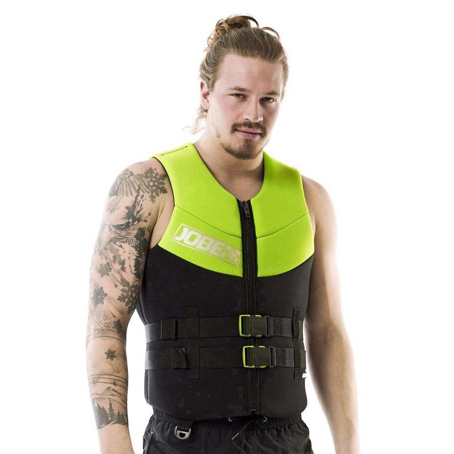 Plavecká vesta - Pánská plovací vesta Jobe Men Vest lime zelená - S