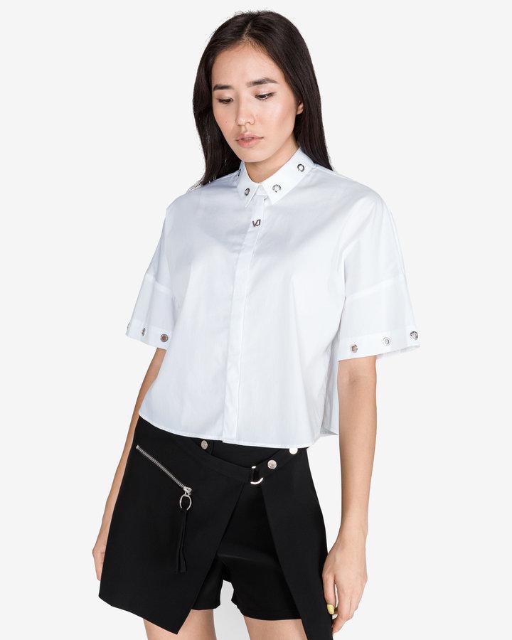 Bílá dámská košile s krátkým rukávem Versace Jeans - velikost L
