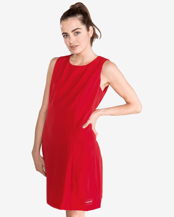 Červené dámské šaty Calvin Klein - velikost XS