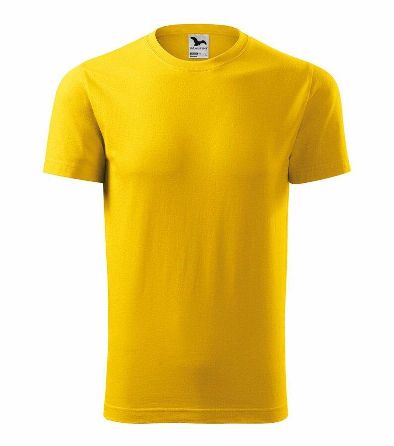 Žluté tričko s krátkým rukávem Adler - velikost L