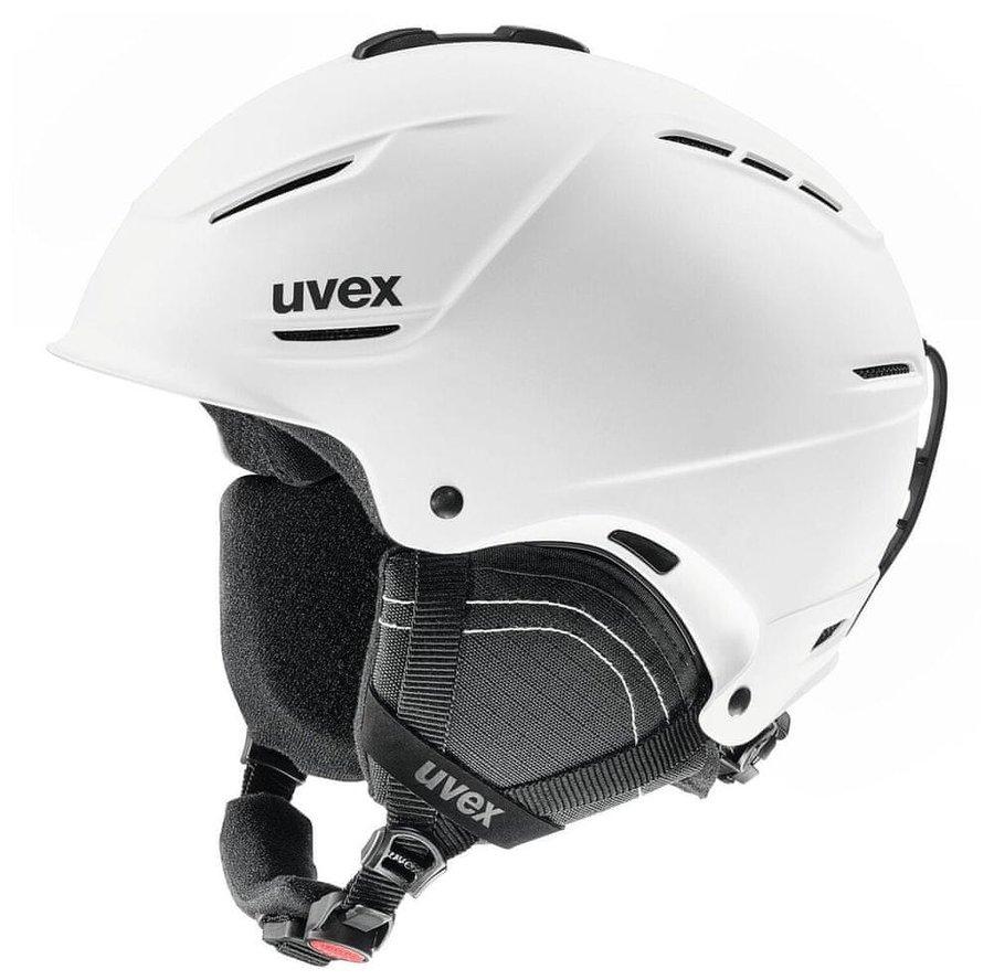 Bílá dámská lyžařská helma Uvex - velikost 59-62 cm