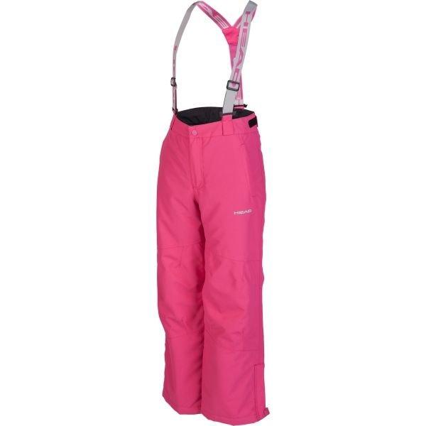 Růžové dětské snowboardové kalhoty Head - velikost 140-146