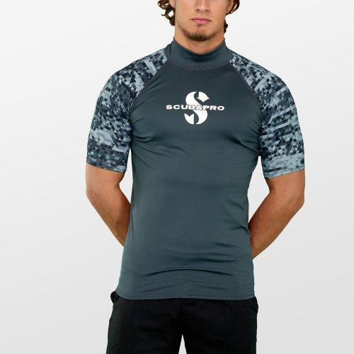Šedé pánské lycrové tričko Graphite RG UPF 50, Scubapro