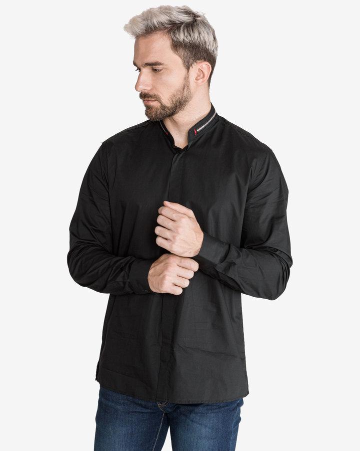 Černá pánská košile s dlouhým rukávem Antony Morato