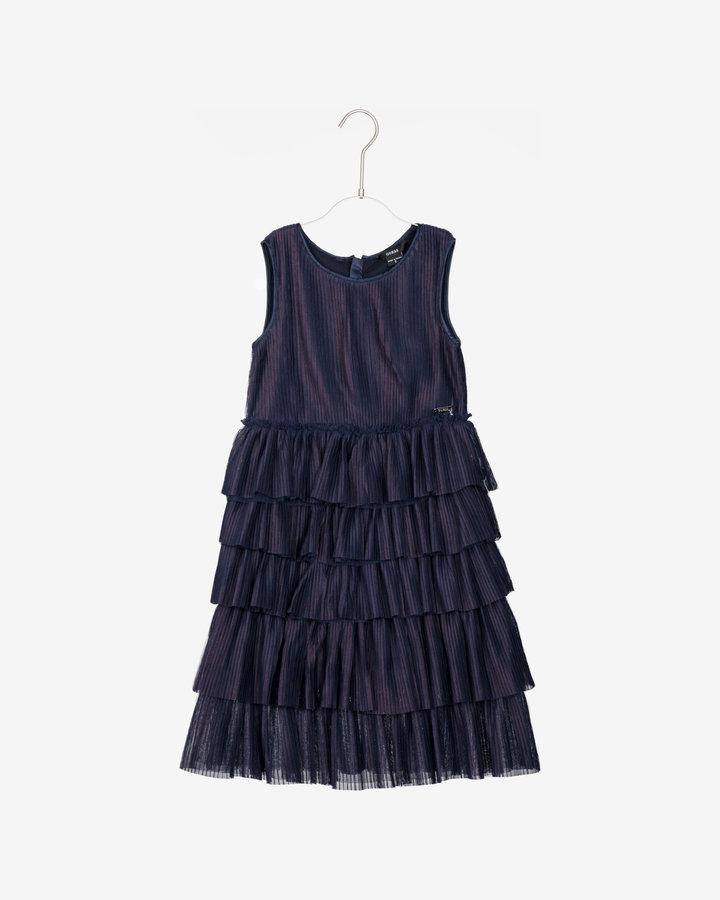 Modré dívčí šaty Guess - velikost 122