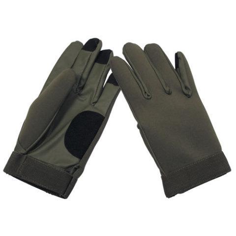 Černé neoprenové rukavice MFH int. comp