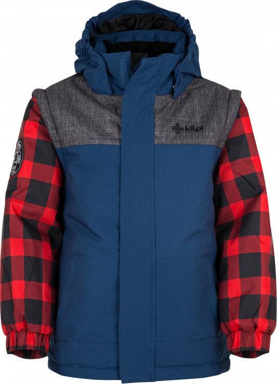 Modrá zimní chlapecká bunda s kapucí Kilpi