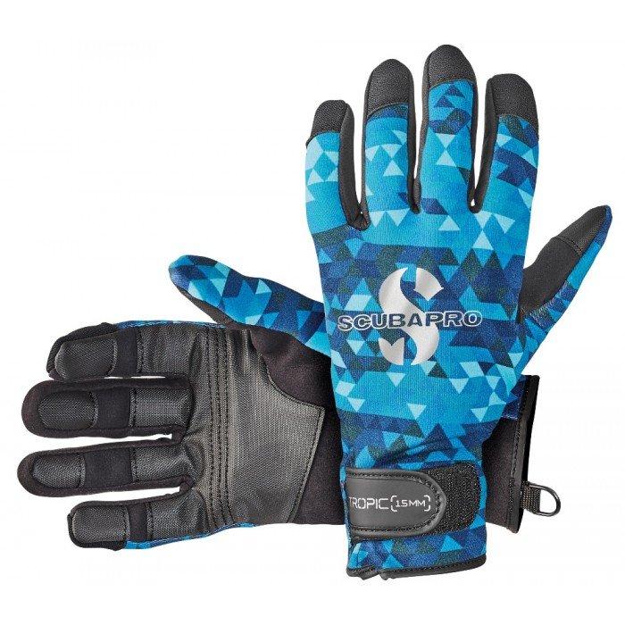 Černo-modré neoprenové rukavice TROPIC, Aegean