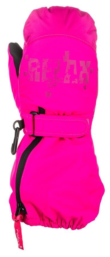 Lyžařské rukavice - Relax PUZZYTO dětské lyžařské rukavice/palčáky Barva: RR17G (růžová, fialová), Velikost: 8-10 LET
