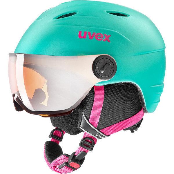 Zelená dětská lyžařská helma Uvex - velikost 52-54 cm