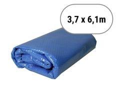 Modrá solární plachta na bazén - délka 610 cm a šířka 370 cm