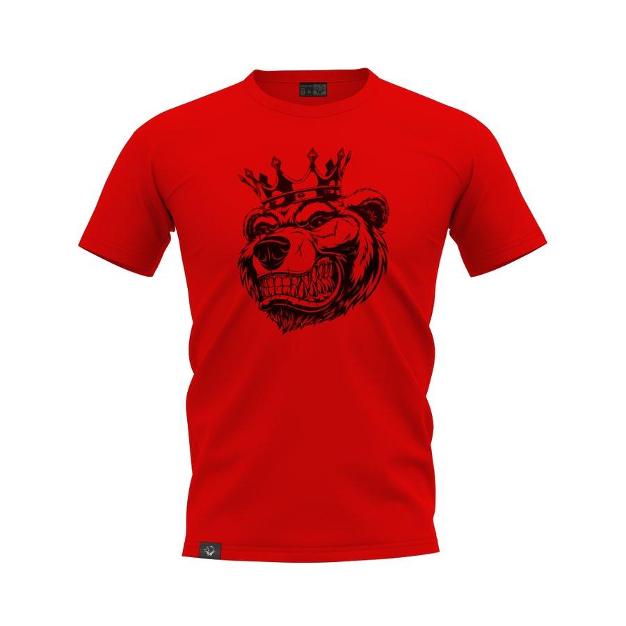 Červené pánské tričko s krátkým rukávem Grizzly Gear