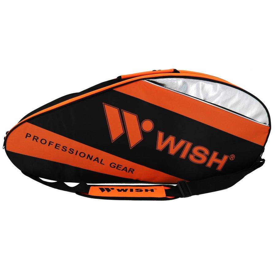 Badmintonová taška - Badmintonová taška WISH WB-3035 oranžovo-černá