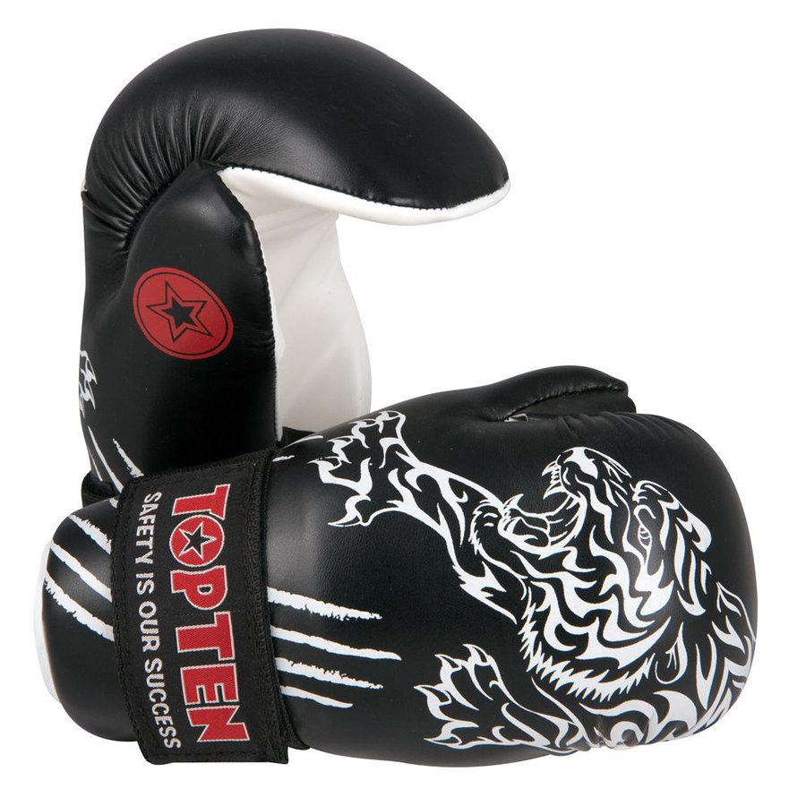 Karate rukavice - Otevřené rukavice Top Ten Individuals 2012 - černá - černá - velikost M