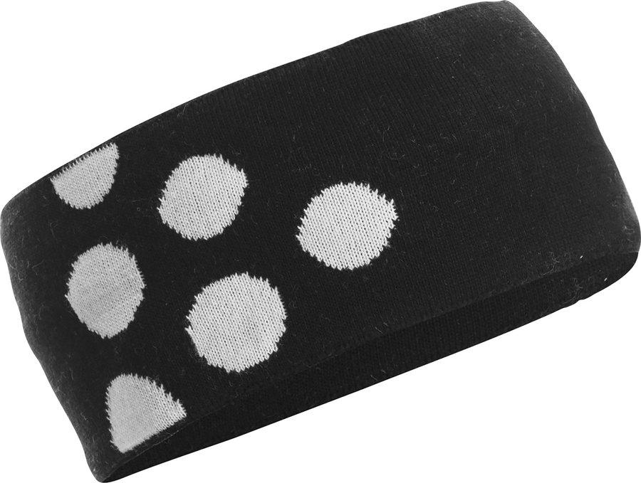 Černá běžecká čelenka PXC Light 6 Dots, Craft