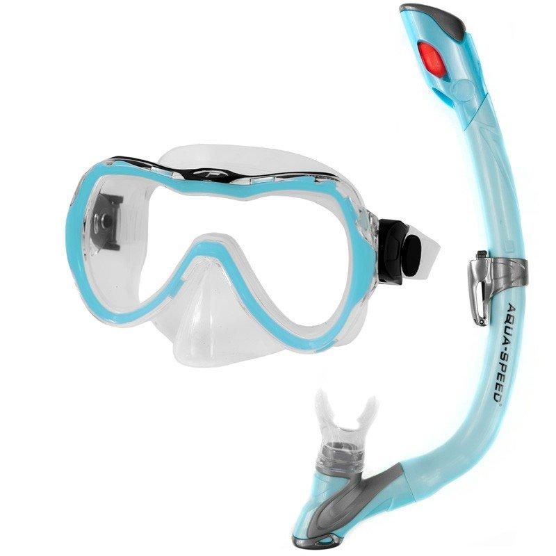 Potápěčská sada - Aqua-Speed Enzo+Evo modrá sv.