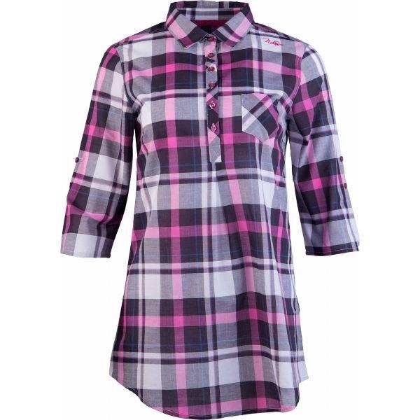 Fialovo-růžová dámská košile s krátkým rukávem Willard - velikost 36