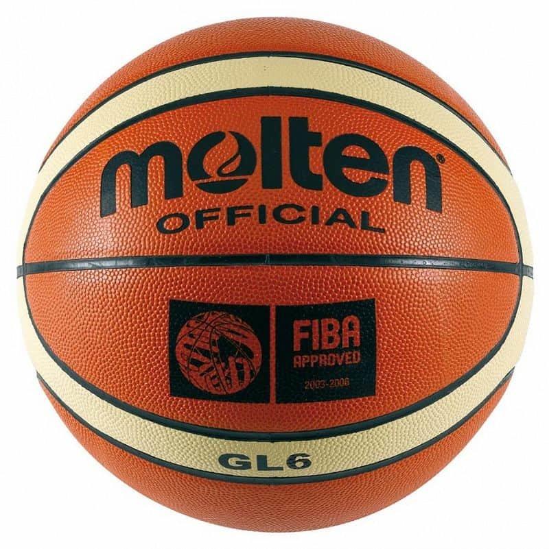Oranžovo-žlutý basketbalový míč BGL6, Molten - velikost 6