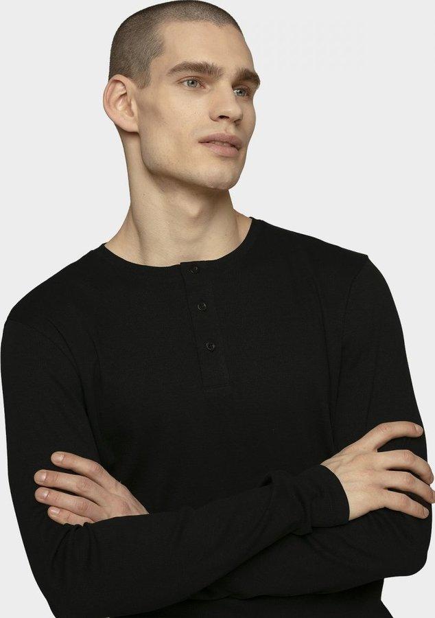 Černé pánské tričko s dlouhým rukávem Outhorn