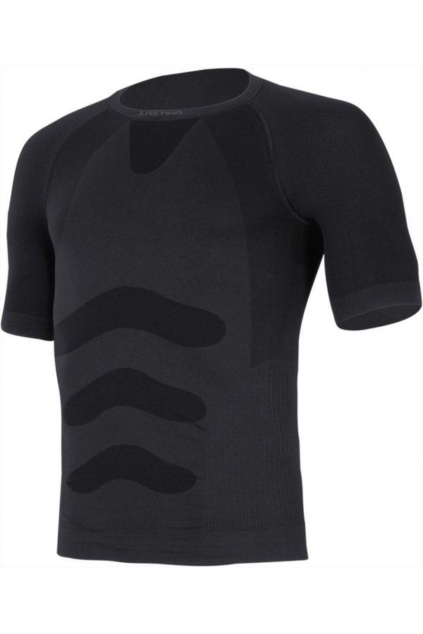Modré pánské termo tričko s krátkým rukávem Lasting - velikost S-M