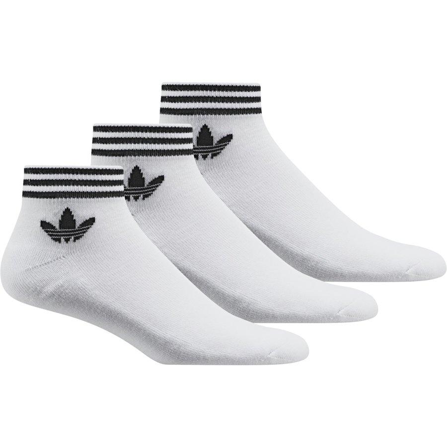 Bílé kotníkové pánské ponožky Adidas - velikost 27-30 EU