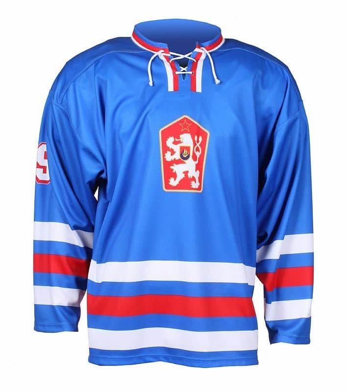 Červený hokejový dres Merco - velikost M