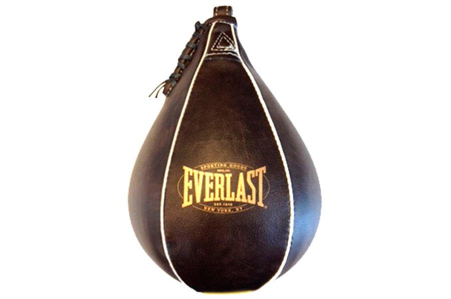Hnědá závěsná boxovací hruška Everlast