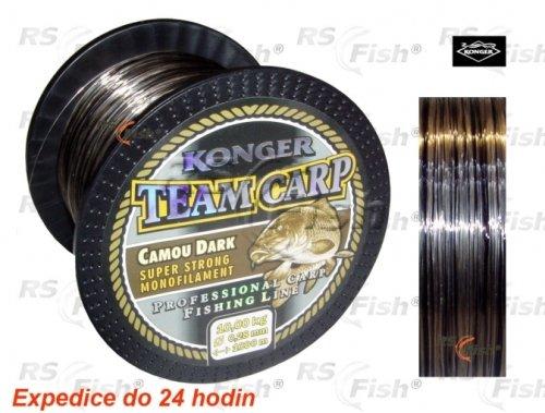 Rybářský vlasec - Konger® Vlasec Konger Team Carp Camo Dark 1000 m 0,25 mm