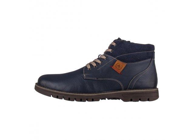 Modré pánské zimní boty Rieker